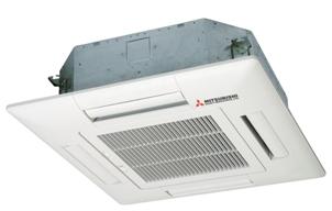 Инверторные модели (кассетный тип) 4-х сторонняя раздача воздуха