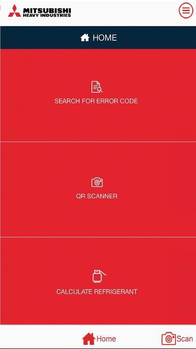 Сервисное приложение MHI E-Service для Android и iOS